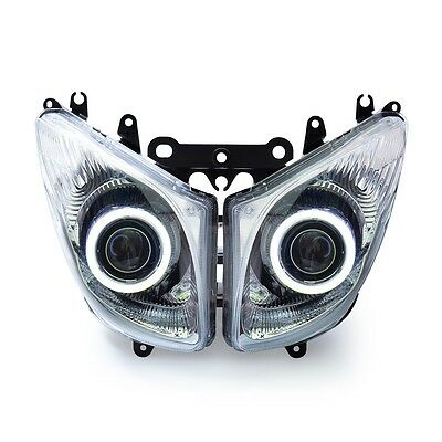 Headlight Assembly For Yamaha TMAX500 T-MAX 2008- 2011 Angel Eyes Projector Kit