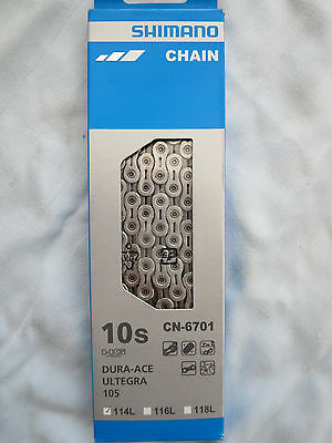 Shimano Ultegra 6700 CN-6701 10 Speed Road Bike Chain **New** Dura Ace 105