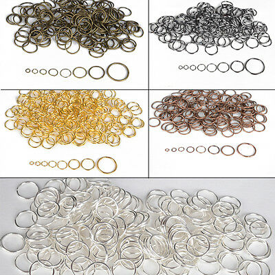 4-20mm Wholesale Silver Gold Jump Rings Open Connectors Jewelry Finding