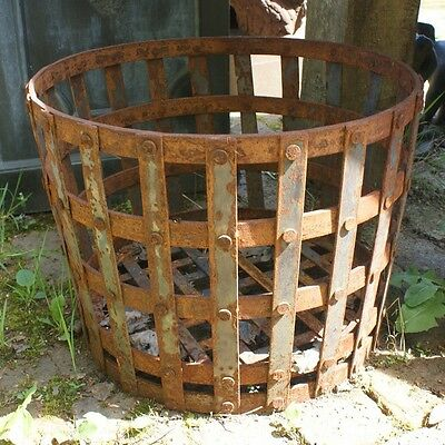 45cm Wrought Iron Gothic Log Basket - CLEARANCE Brazier Wood Storage