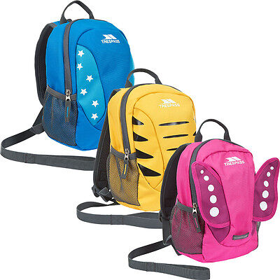 Trespass Tiddler Toddler Kids Safety Backpack Rucksack with Detatchable Reins