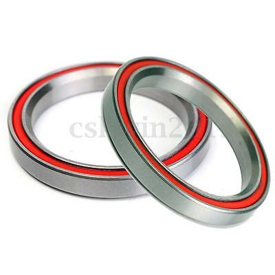 "2Pcs 40x52x7mm 2RS P16 Taper ACB Angular Contact Bike Bearing For 1-1/2"" Headset"