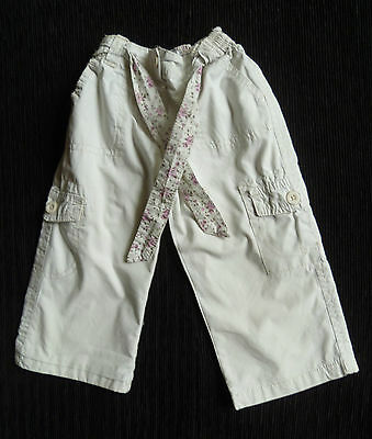 Baby clothes GIRL 6-12m 44cm length off-white,lined trousers 2nd item post-free!