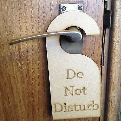 Mdf 3.2Mm Precision Laser Cut Personalised Do Not Disturb Sign Door Hanging