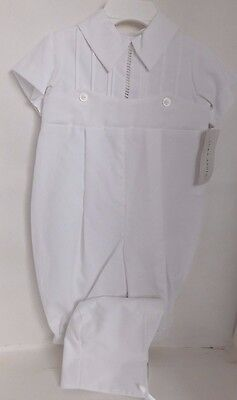 NWT Boys  Romper Lattice Christening, Blessing, Baptism 75%   INVENTORY CLOSEOUT