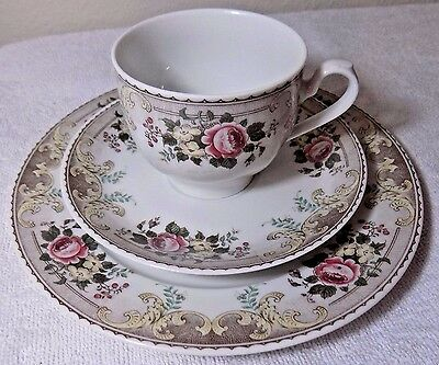 Vintage Mitterteich Bavaria Germany Tea Cup Saucer salad plate set shabby chic