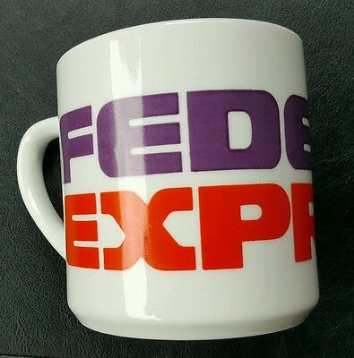 Vintage Coffee Cup Mug By Fed Ex Federal Express Vgc