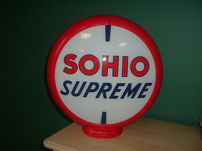 Sohio Supreme Gas Pump Globe
