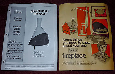 Sears Contemporary (Preway) Fireplace Owners Manual & Things to Know Manual