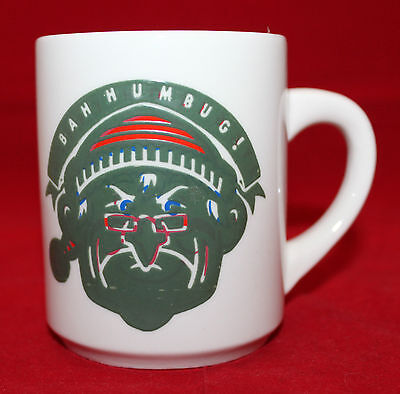 Vintage Denny's Bah Humbug! Heat Activated White Logo Coffee Tea Mug Cup Retro