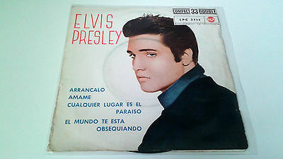 "Elvis Presley ""arrancalo"" Ep 7"" Spanish Single A/a 1961 Lpc-3177"