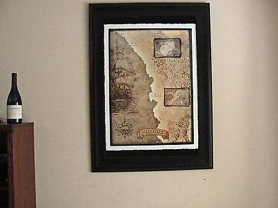 Malpais, Santa Teresa, Costa Rica, Pirate Map, Fine Art Print