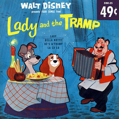 Walt Disney Four Songs From Lady And The Tramp RECORD DBR-35 (New Still Sealed)