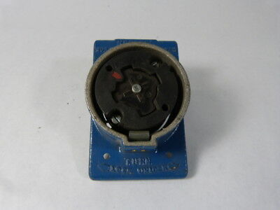 Hubbell 25414 Hubbellock Connector 30A 600V 20A 250V 5W 4P  USED