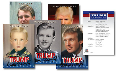 DONALD TRUMP 2016 Presidential LIFE & TIMES Trading 5-Card Set (Lot of 3)