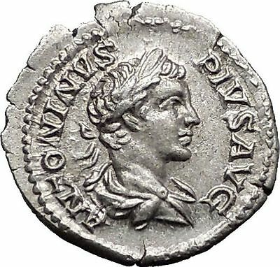 CARACALLA  201AD Rome mint Silver Ancient Roman Coin Nike Victory Cult i55433