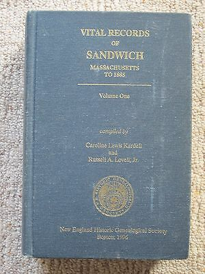 Vital Records of Sandwich Massachusetts to 1885