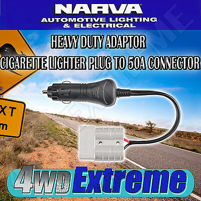 Narva Quality Cigarette Lighter Plug To 50A Connector Anderson Style 81063Bl