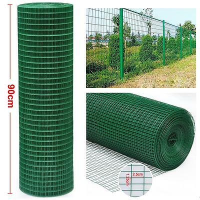 0.9M X 30M PVC Coated Green Chicken Rabbit Wire Mesh Fencing Fence Border