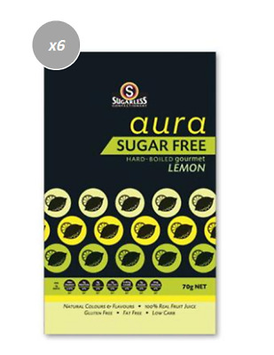 901876 4 x 70g BAGS OF HARD BOILED GOURMET LEMON - SUGAR FREE, GLUTEN FREE