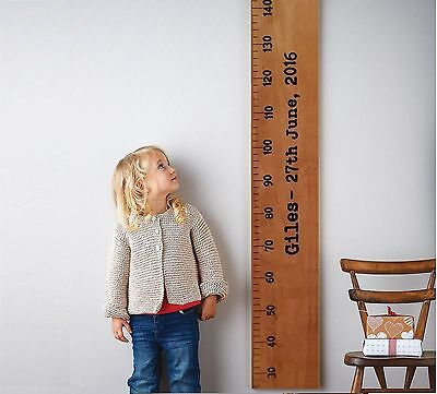 Wooden Height Ruler Growth Chart measurement Personalised kids decor baby Wall