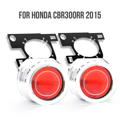 KT HID Projector Lens for Honda CBR300R 2015 2016 Angel Demon Eye Headlight Red