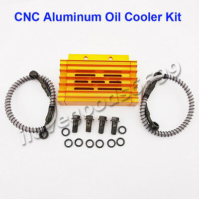 Gold Alloy Oil Cooler For Chinese Pit Dirt Bike YX Lifan BSE Kayo YCF Thumpstar