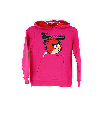 Angry Birds Mädchen, Pullover, Sweat capuche hoodie pink Gr. 152 / 12 Jahre