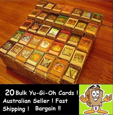 YuGiOh! 20 Bulk Rares ONLY  !Rare Card!!BEST DEAL !!! KONAMI AUSTRALIA