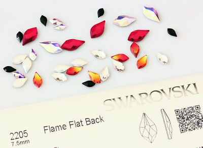 Genuine SWAROVSKI Flame 2205 Flat Backs No Hotfix Crystals * Many Colors
