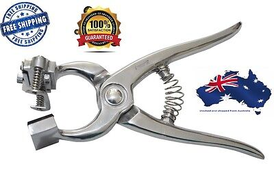 Tattoo Plier Livestock Sheep Cattle Identification Ear Marking Farming Vet Use