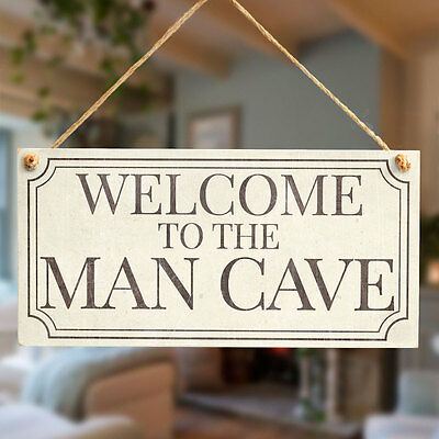 WELCOME TO THE MAN CAVE Sign Gift For Dad - Man Cave, Den, Family Room, Boy Room