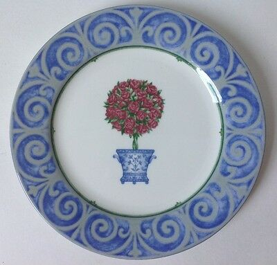 """Victoria and Beale English Manor Salad Plate w Rose Topiary 7 5/8"""""""
