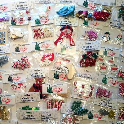 CLEARANCE Job Lot of 20 packs of Christmas Embellishments New