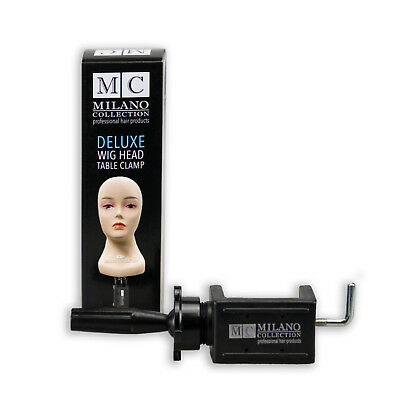 MILANO COLlECTION Mannequin Wig Head DELUXE Table Clamp Stand for Easy Styling