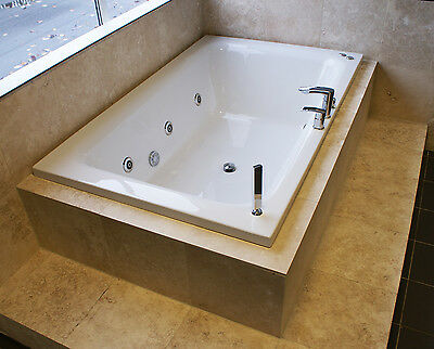 Opulence Luxury Large Double Ended Bath Optional Whirlpool Spa Jacuzzi System