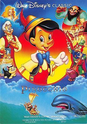 Disney Pinocchio Chrome Postcard