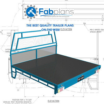 Dual Cab steel Tray Plans -1700x1800 - Build your own ute tray - CDROM