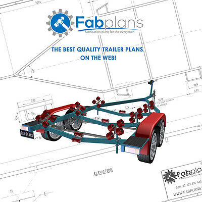 15'-21' Boat Trailer plans - Build your own boat trailer! A4