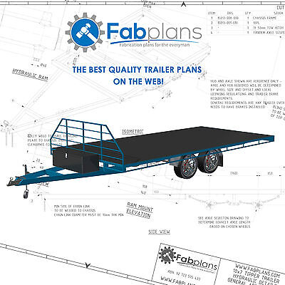 19.6'x8' Flat Deck Trailer Plans - Build your own heavy duty trailer! A3+CDROM