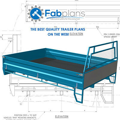 Single Cab steel Tray Plans -2500x1800 - Build your own ute tray. A4
