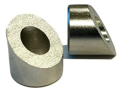 """LUX Angled or Beveled Washer for 1/4"""" Threaded Fitting 35 Degree Angle Stainless"""