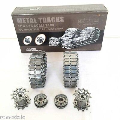 Heng Long  Challenger 2 Metal Tracks + Sprockets+Iders Upgrade Set UK