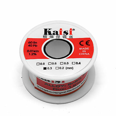 0.3mm x 65ft 60/40 Rosin Core Flux 1.2% Tin Lead Soldering Solder Wire Spool 50G