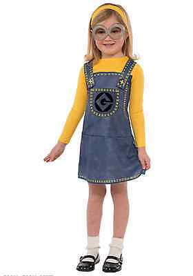 Minion Halloween Costumes For Girls.Girls Despicable Me Female Minion Costume Kids Child Halloween Dress