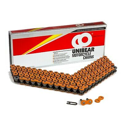 520 Orange Heavy Duty Motorcycle Chain 98 Links with 1 Connecting Link