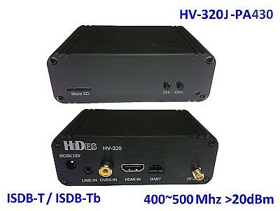 HV-320J-PA430 FPV Full HD Video Tx (100~2500Mhz), HDMI/CVBS to ISDB-T/-Tb