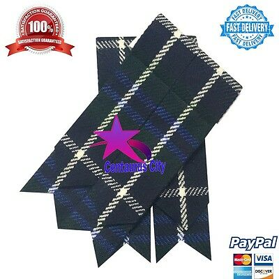Kilt Hose Flashes Douglas Blue/Scottish Kilt sock flashes Douglas/kilt flashes