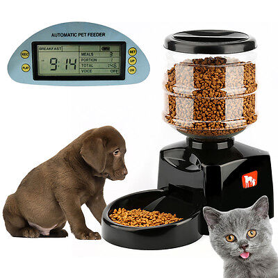 5.5L Automatic Pet Feeder Electronic Digital Display Bowl Dispenser for Dog Cat