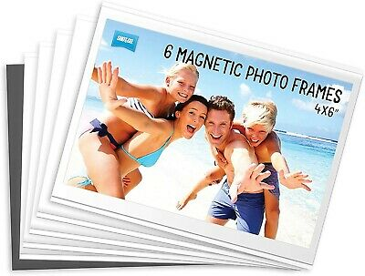 4 x Shot2Go Magnetic Photo Fridge Frames (Holds a 6x4 inch photo)